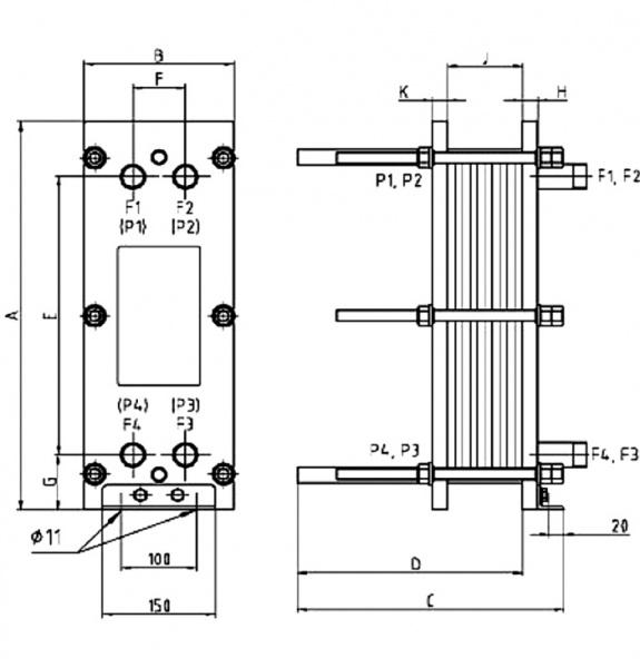 Пластинчатые теплообменники ннn41тс-16/2 теплообменник холодной воды установить